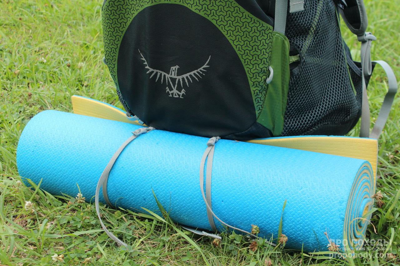 Как крепить каремат е рюкзаку рюкзаки для переноски детей отзывы