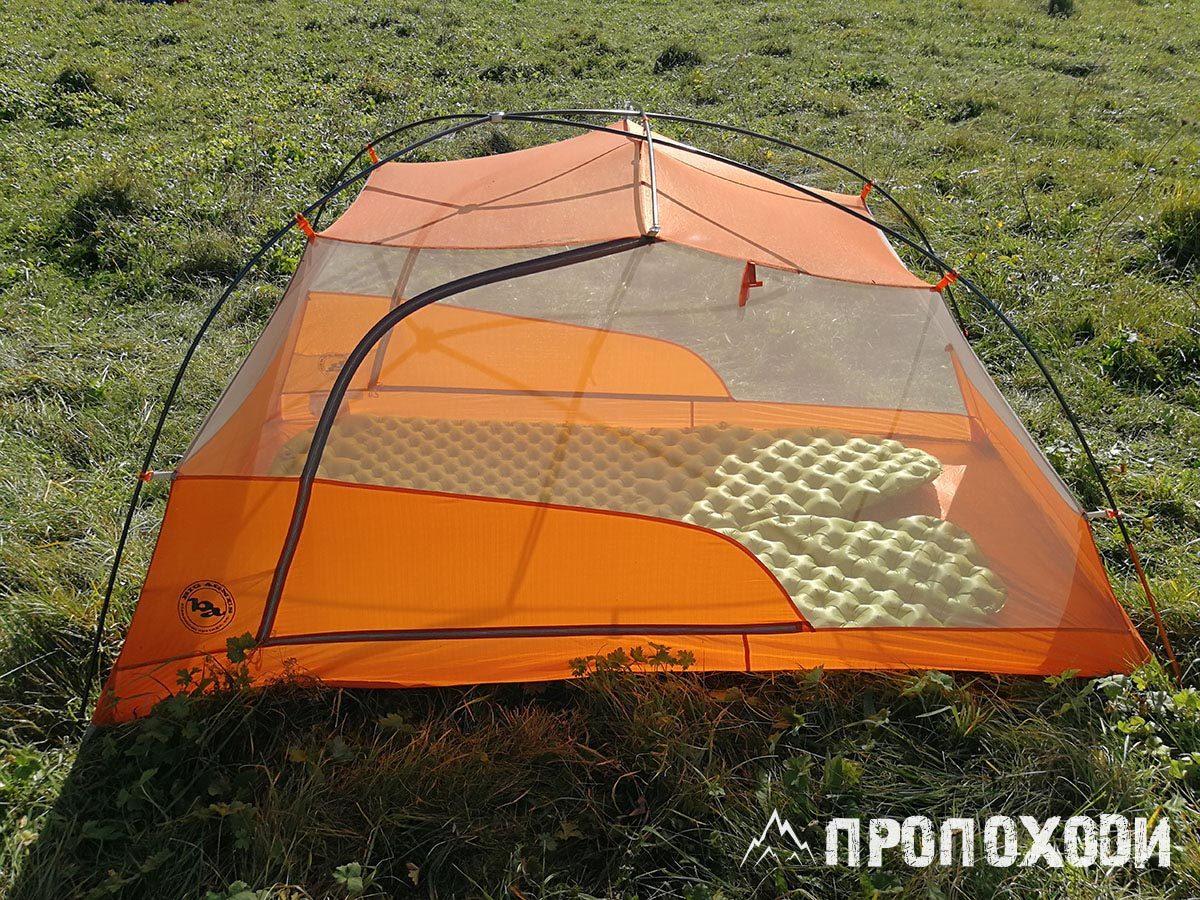 двухместная палатка big agnes copper spur