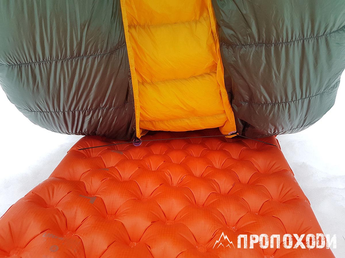 quilt with sleeping pad